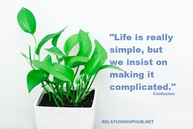 simplicity living quote