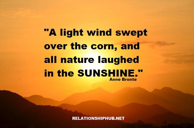 inspiring sunshine quote